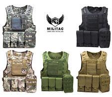 Tactical Vest. Airsoft /Paintball Vest / Molle Combat Assault Vest + Mag Pouches