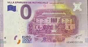 BILLET-0-EURO-VILLA-EPHRUSSI-DE-ROTHSCHILD-FRANCE-2016-NUMERO-100