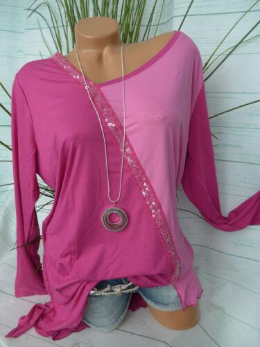 BOYSENS señora camisa túnica blusa talla 36 hasta 52 con lentejuelas nuevo 273