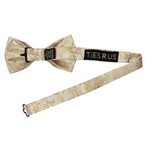 Handmade Caramel Floral Handmade Mens Bow Tie Dickie Bow Pre Tied Bow Tie