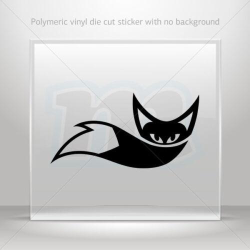 Decal Stickers Fox Design Helmet Atv Bike polymeric vinyl Garage st5 XXR86