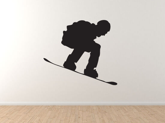 Snowboard Trick  5 - Mountain Downhill Competitive Jump Grind - Vinyl Wall Decal