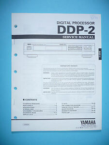 Kenntnisreich Service Manual Für Yamaha Ddp-2 Tv, Video & Audio original