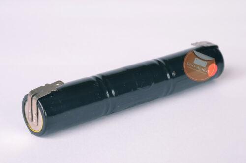 Akkupack Notlicht Notbeleuchtung Stab Faston Anschlüsse 4Ah NiCd 3,6V 4000mAh