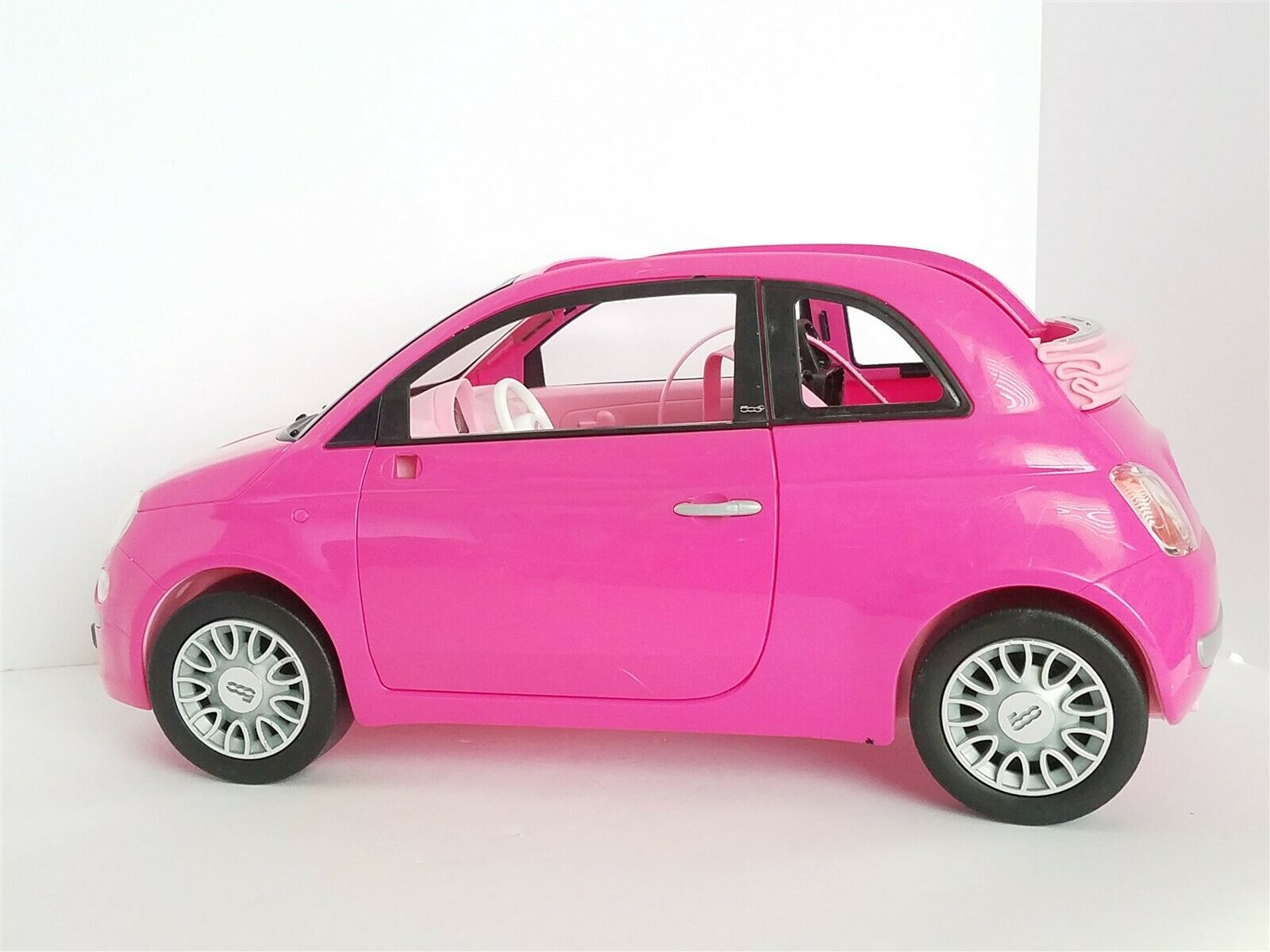 Barbie Fiat 500cc Vehicle Pink Car With Doll For Sale Ebay
