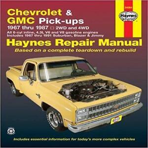 haynes gmc jimmy pick up 67 91 owners service repair workshop rh ebay ie Haynes Repair Manual Online View Auto Repair Manuals Online