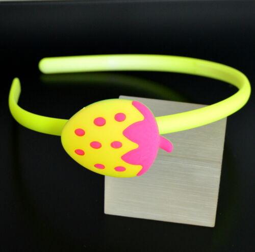 Maturità capelli capelli PNEUMATICI Madchen Neon Colori Acrilico Strass Mouse Fragola 12 modelli