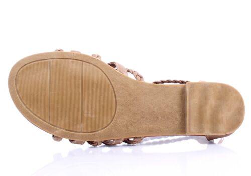 2 Color Faux Leather Adjustable Ankle Shaft Back Zip Women Sandals Gladiators