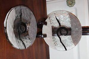 4-Sydenstricker-Fused-Art-Glass-Bowl-Plates-7-Flower-Pattern-SIGNED-Syd