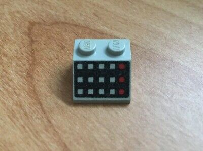 LEGO 1x 3039p32 Light Gray Slope Brick 45 2x2 w// 12 Buttons 6931 6952 6891 Space