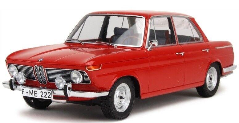 Mnc107024001-voiture sedan bmw 1800 ti 1965 colour rouge -  1 18  haute qualité et expédition rapide