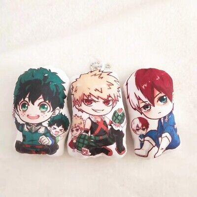 My Hero Academia  Plush Keychain Katsuki Bakugou Midoriya Izuku Pendant Key Ring