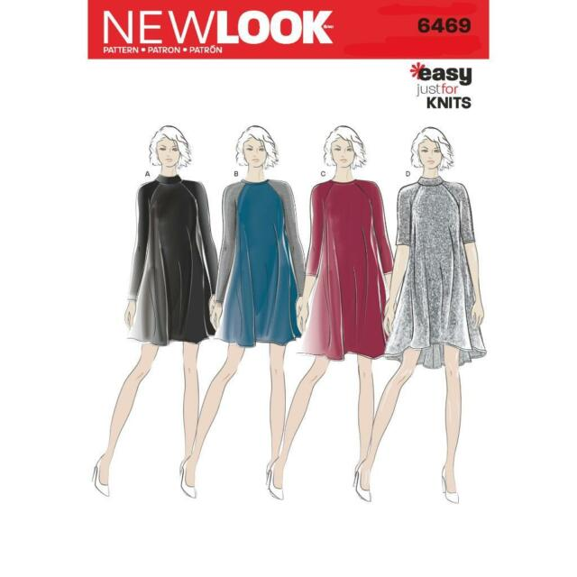 LOOK Sewing Pattern Misses Womens Ladies Plus Easy Knit Dress Sz 8 ...