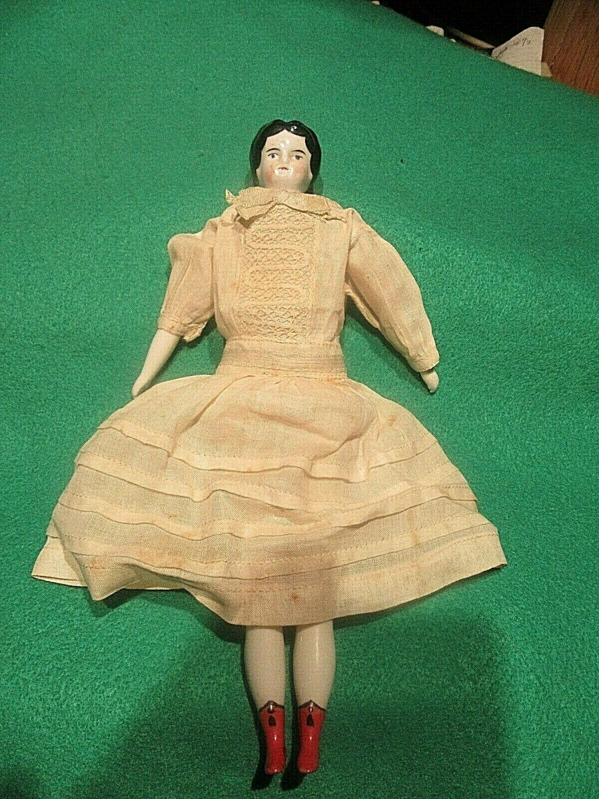 GERMANY 8 Antique Porcelian HEAD DOLL  legs & arms Fabric Body 8-1 2