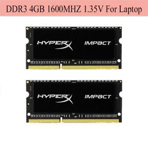 Pour-Kingston-HyperX-Impact-4-Go-8-Go-16-Go-1600-MHz-DDR3L-PC3L-12800S-Ordinateur-Portable-Ram-Lot
