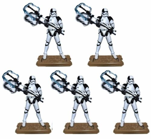 """Lot of 5 Star Wars First Order Stormtrooper Executioner W// Stand 3.75/"""" Figure"""