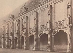 G2367-France-Chateau-d-039-Oiron-La-Galerie-Stampa-d-039-epoca-1930-old-print