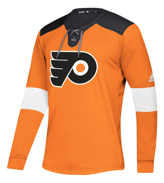 designer fashion 62883 e37a9 Philadelphia Flyers adidas Mens Platinum Long Sleeve Jersey Sweatshirt XXL