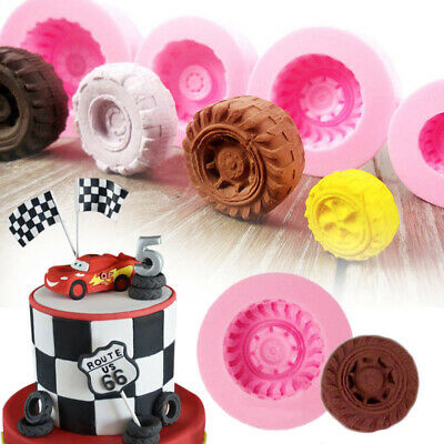 Car Tires Silicone Fondant Mold Cake Decorating Baking Sugarcraft Mould Tools LH
