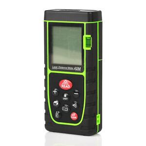 40m//131ft Digital Laser Distance Meter Range Finder Measure Diastimeter ±2mm UK