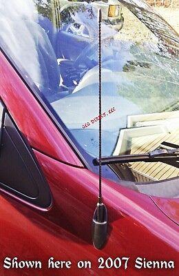 "17"" BLACK SPIRAL ANTENNA Mast Toyota FJ 4Runner Tacoma Sienna MANY 1984-2014 NEW"