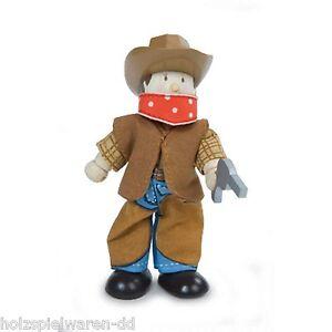 "Le Toy Van BK949 Budkins ""Billy the Cowboy"" Biegepuppe NEU! #"