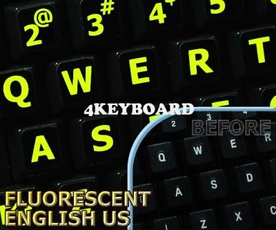 New Glowing fluorescent German English keyboard sticker