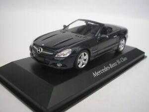 Mercedes-Benz-Sl-Class-2008-Bleu-Metallique-1-43-maxichamps-940037531-Neuf