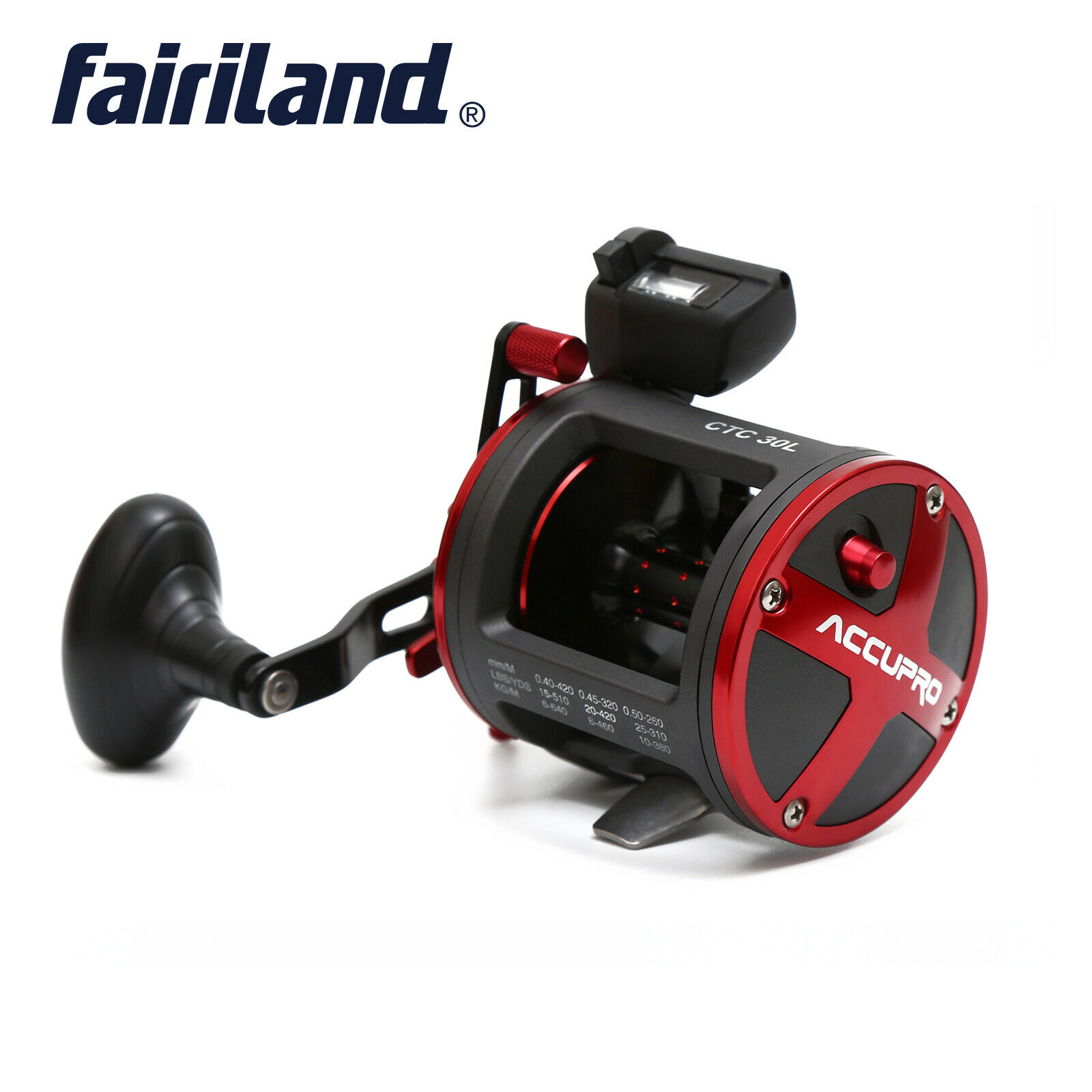 Fairiland Drum Boat Fishing Reel with Digital Counter 3color 4 BB Stainless Boat