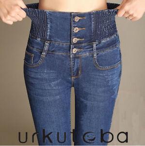 Women-Stretch-Skinny-Denim-Jeans-Casual-High-Waist-Jeggings-Pencil-Pants-Trouser