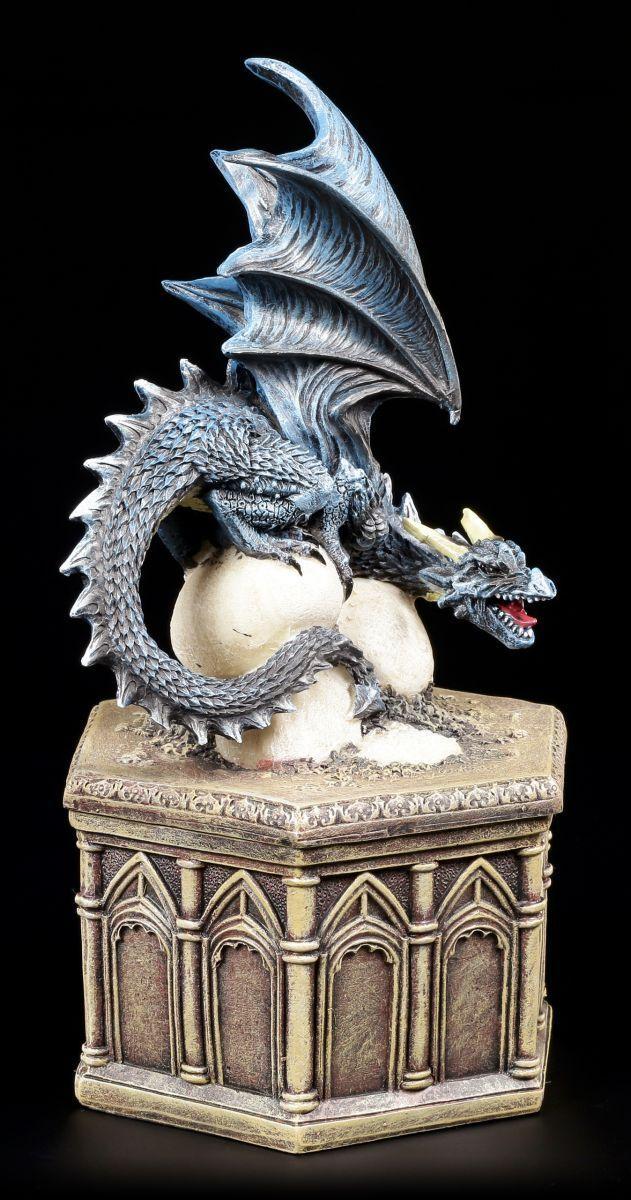 Statuetta Drago come Scrigno Coloreeato - Cryondrix Quartier - Barattolo Box