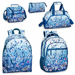 Eastwick-Floral-Blue-Backpack-Holdall-Rucksack-Travel-School-Girls-Lunch-Bag