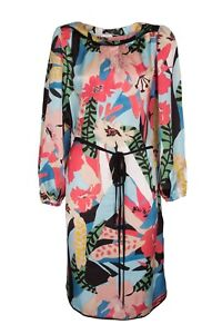 Damen Kleid Sommerkleid Abendkleid Mit Gurtel Laurel Mehrfarbig Neu Grosse 38 42 Ebay