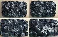 12mm 15mm 20mm 23mm Dark Navy Blue Swirl Shirt 4 Hole Sewing Buttons (CB88-CB91)