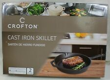 "Crofton Large 12"" Cast Iron Skillet Frying Pan  NEW"