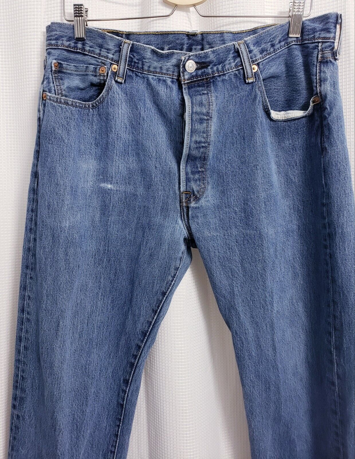 Levis 501 Original Fit Button Fly Distressed Jean… - image 2