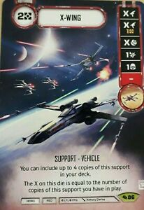 2x Star Wars Destiny X-Wing Alt Art Promo - Across the Galaxy #86