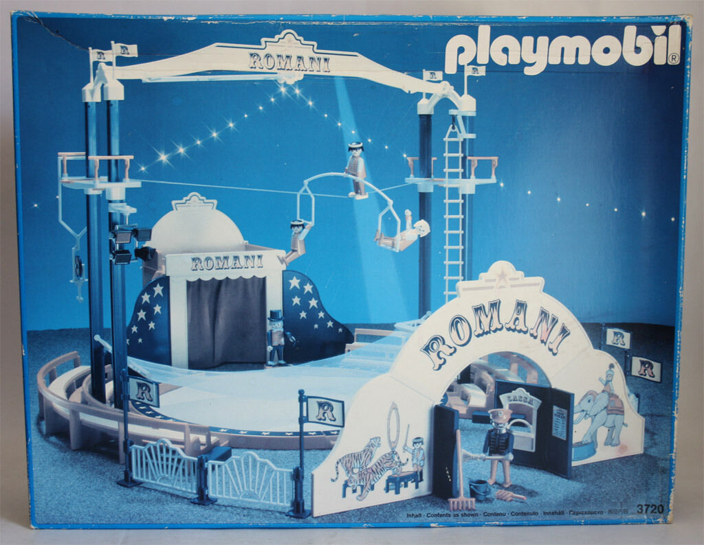 VERY RARE VINTAGE 1991 PLAYMOBIL 3720 ROuomoI CIRCUS RING nuovo  SEALED CONTENTS    l'ultimo