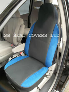 SAAB-9000-CAR-SEAT-COVERS-ANTHRACITE-BLUE-BOLSTERS-2-FRONTS