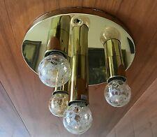 Messing Sputnik Lampe Design 70er Lamp 4 Bulbs 60s 70s Brass goldfarbend