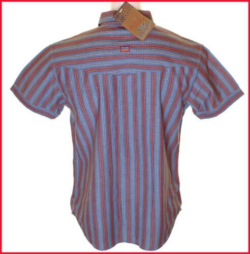 BNWT Da Uomo Autentico Wrangler Manica Corta Camicia NEW RRP £ 59.99 grandi Regular Fit