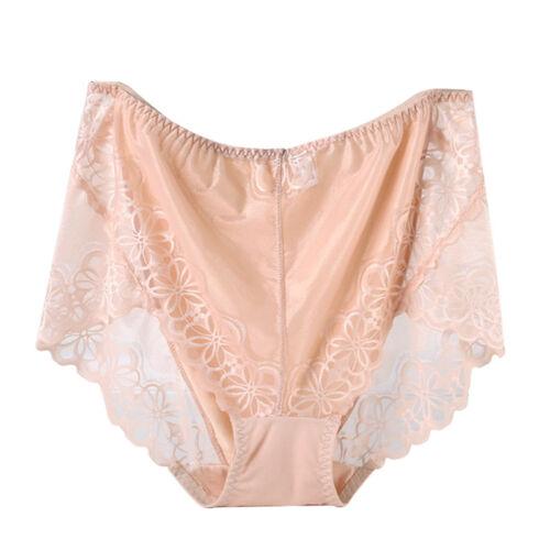 Women/'s Plus Size Soft Lace Underwear Briefs Ladies Seamless Lingerie G-string
