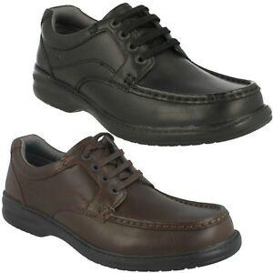 keeler walk mens clarks leather wide fitting lace up