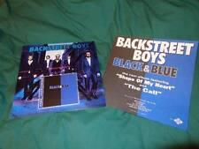 Backstreet Boys *EIGHT Two-Sided Black & Blue Cardboard Poster Flats!