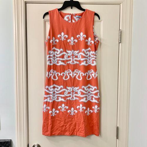 J. McLaughlin Orange Catalina Cloth Sheath Dress M