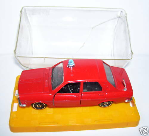 RARE POLISTIL RENAULT 12 TS FIREFIGHTERS FIREFIGHTERS 1976 1 43 IN BOX