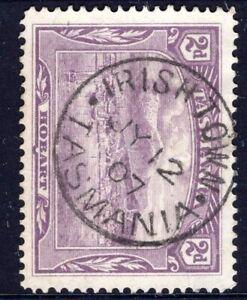 Tasmania-nice-1907-IRISH-TOWN-pmk-type-1-on-2d-pictorial-rated-S-4