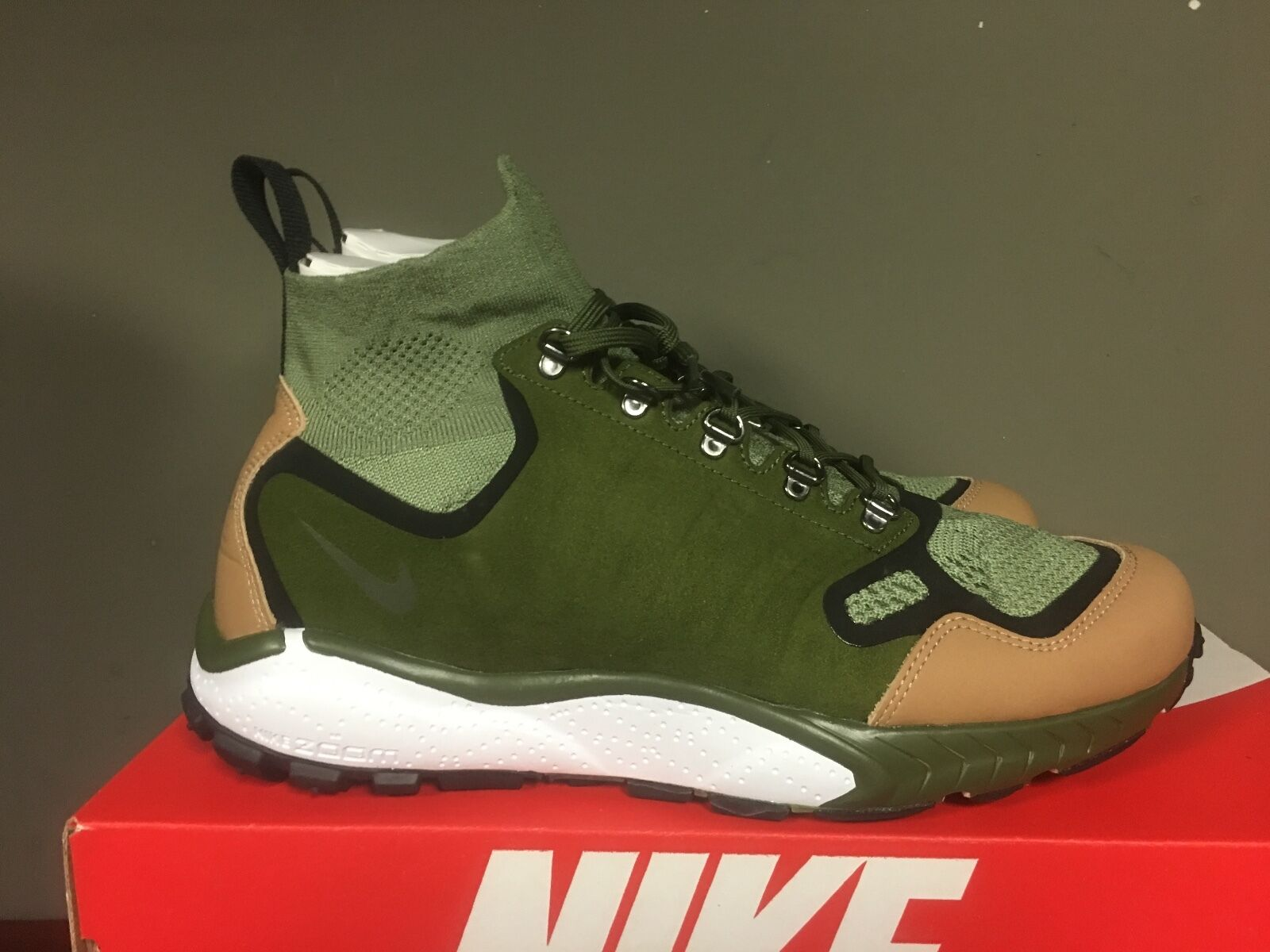 Nike air zoom talaria metà gamba flyknit palm green / gamba metà green vachetta tan 875784-300 07d32a