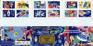 France Art Stamps 2020 MNH My Spectacular Birds Owls Flowers 12v S/A Booklet
