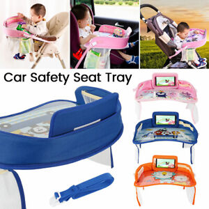 Kid Waterproof Safety Travel Car Seat Board Snack Tray Drawing Board Kids Table